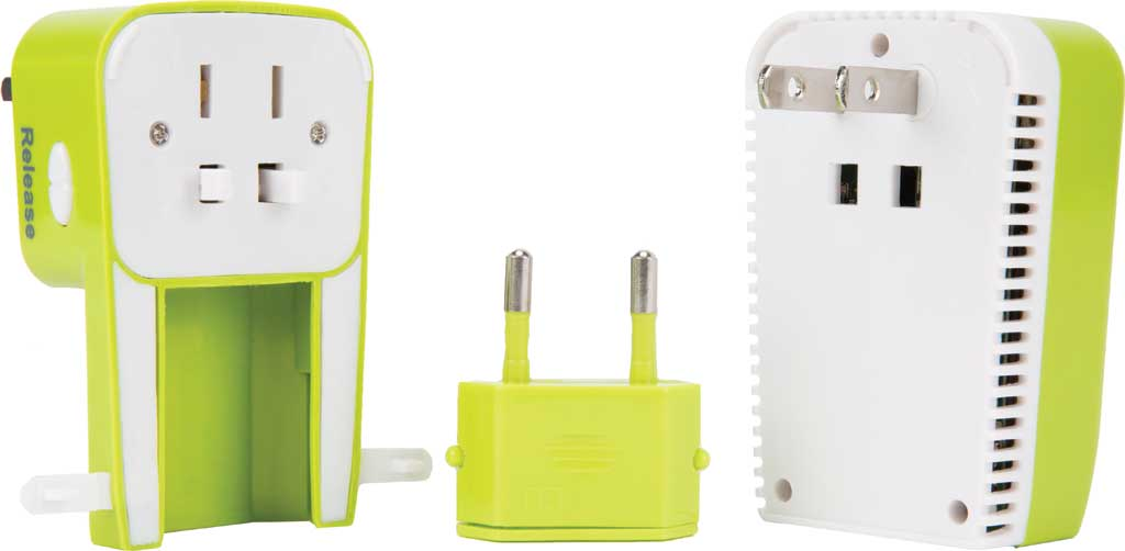 Travelon Universal 3-In-1 Converter,Adapter,and USB, Lime, large, image 2