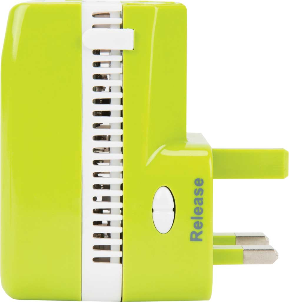 Travelon Universal 3-In-1 Converter,Adapter,and USB, Lime, large, image 4