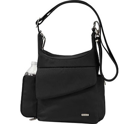 Travelon Anti-Theft Messenger Bag, Black, large, image 1