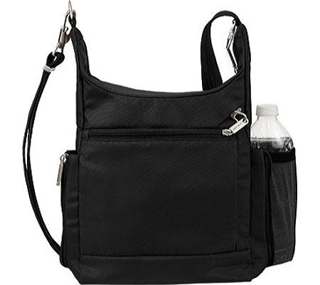 Travelon Anti-Theft Messenger Bag, Black, large, image 2