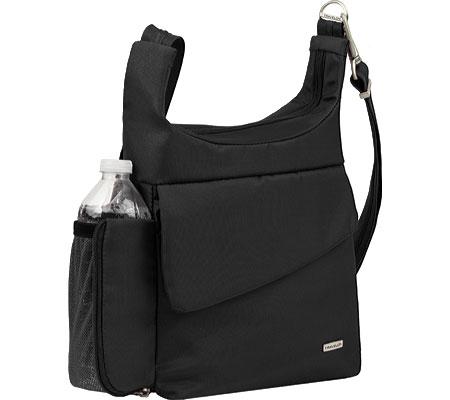 Travelon Anti-Theft Messenger Bag, Black, large, image 3