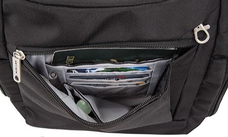 Travelon Anti-Theft Messenger Bag, Black, large, image 4