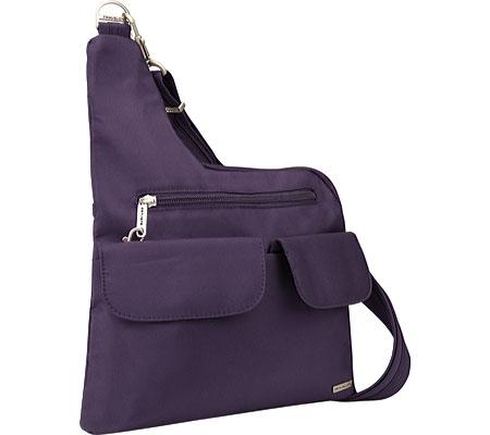 Women's Travelon Anti-Theft Cross-Body Bag, Purple, large, image 1