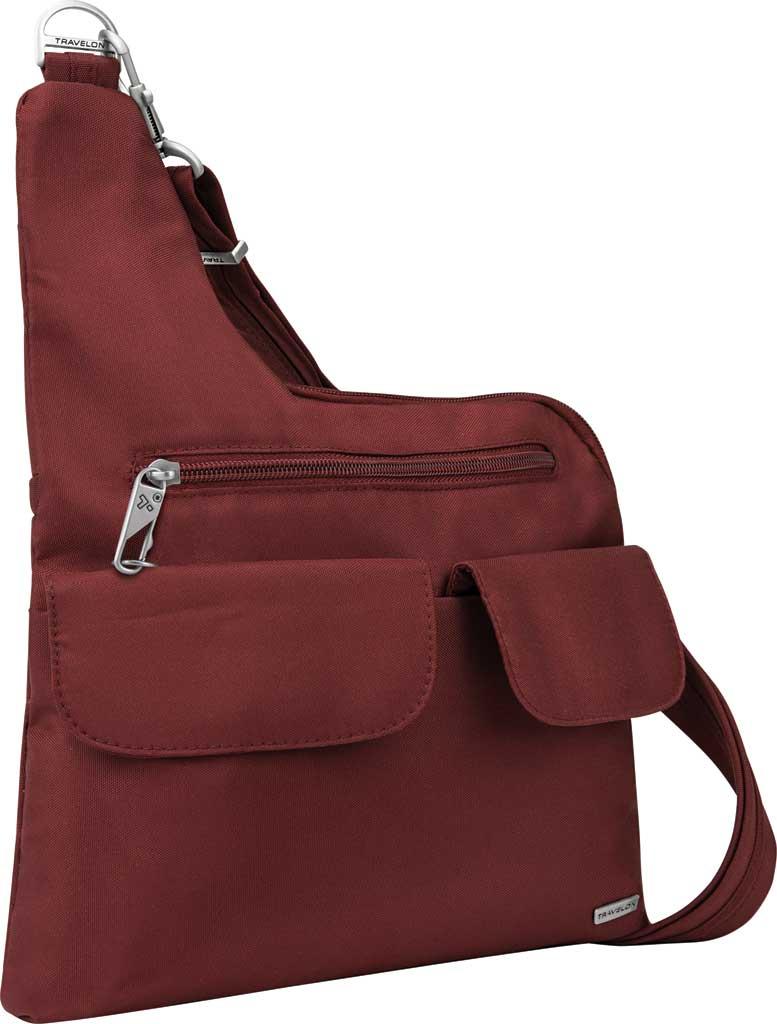 Women's Travelon Anti-Theft Cross-Body Bag, Wine, large, image 1