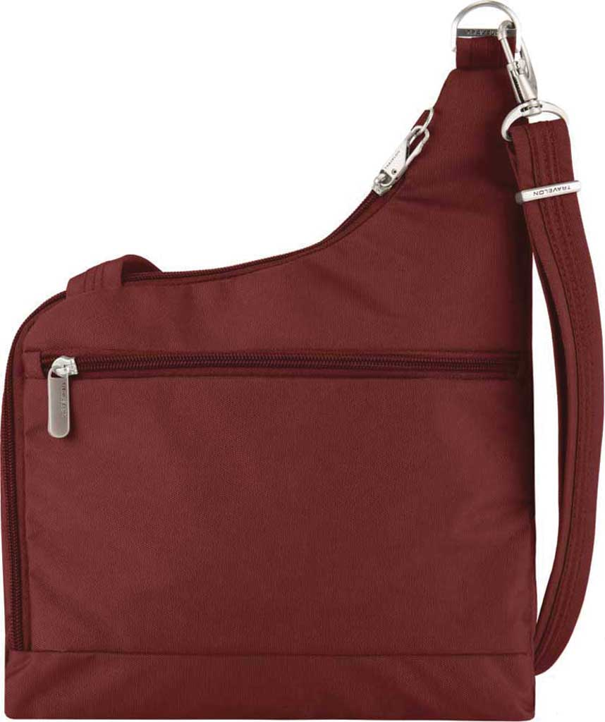 Women's Travelon Anti-Theft Cross-Body Bag, Wine, large, image 2