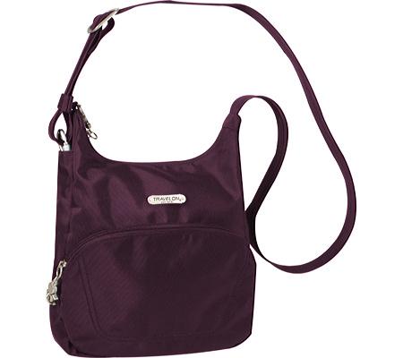 Travelon Anti-Theft Essential Messenger Bag, Purple, large, image 1