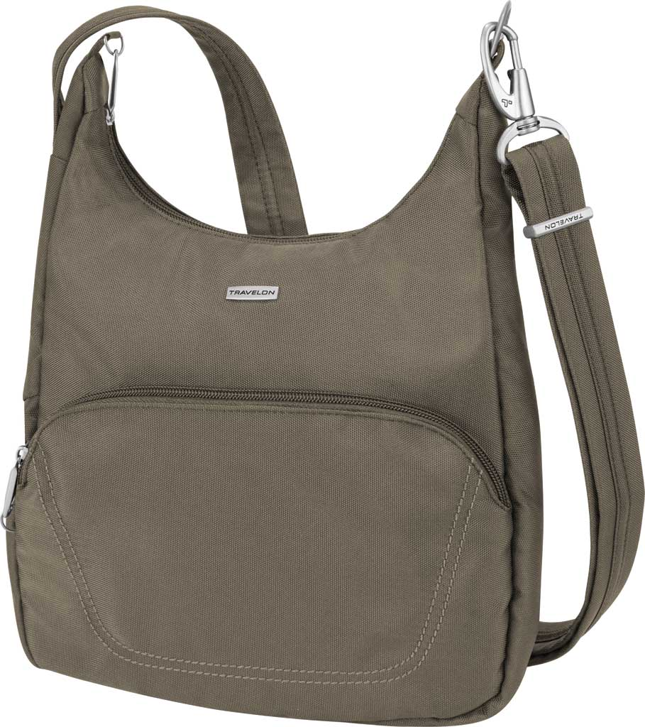 Travelon Anti-Theft Essential Messenger Bag, Nutmeg, large, image 1