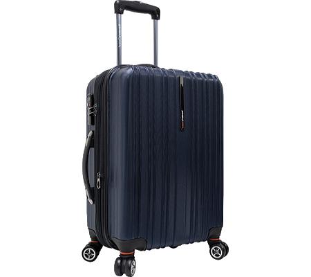 """Traveler's Choice Tasmania 21"""" Expandable Spinner Luggage, Navy, large, image 1"""