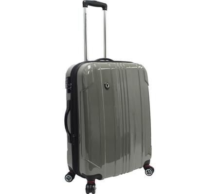 """Traveler's Choice Sedona 25"""" Expandable Spinner Luggage, Pewter, large, image 1"""