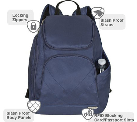 Travelon Anti-Theft Classic Backpack, Midnight Blue, large, image 2