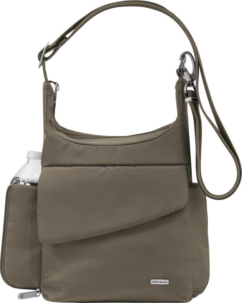 Travelon Anti-Theft Classic Messenger Bag, Nutmeg, large, image 1