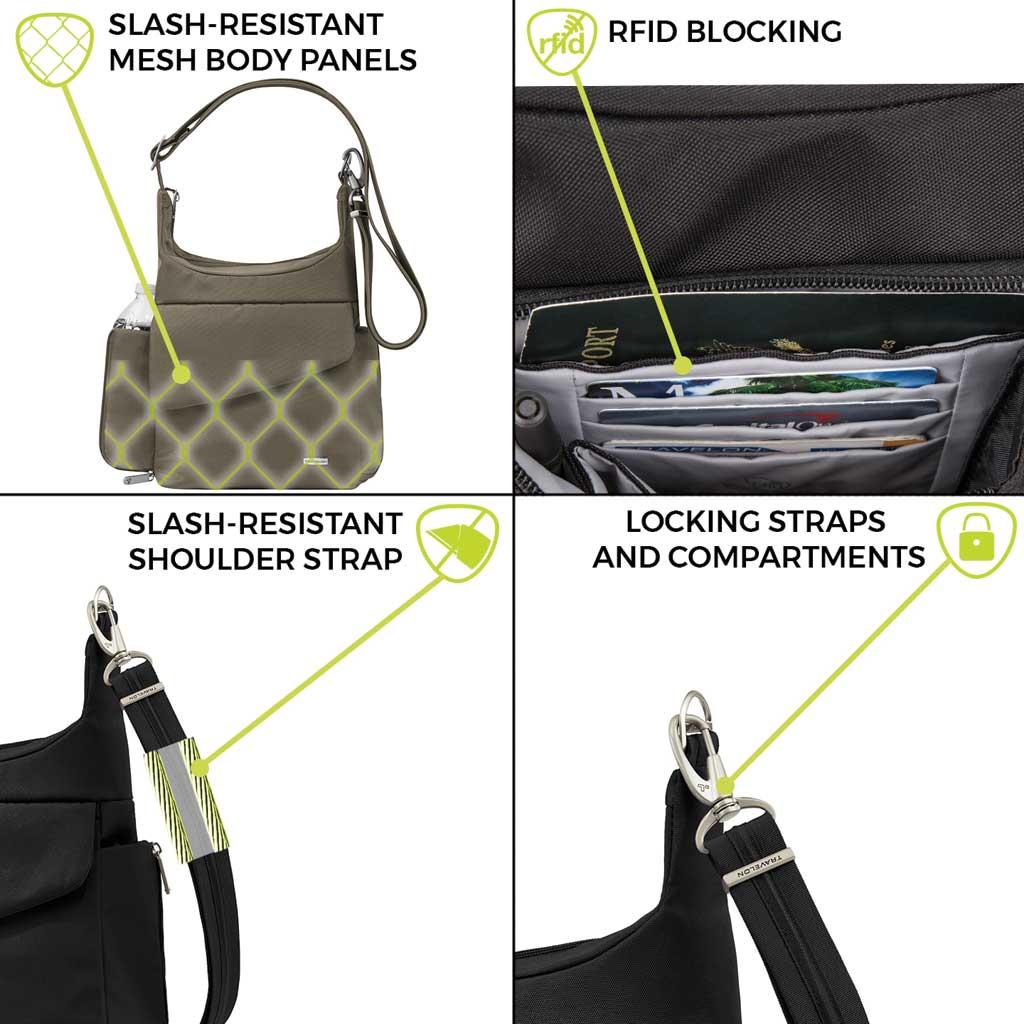 Travelon Anti-Theft Classic Messenger Bag, Nutmeg, large, image 6
