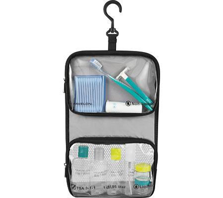Travelon Wet/Dry 1 Quart Bag with Plastic Bottles, Black, large, image 1