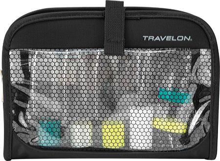 Travelon Wet/Dry 1 Quart Bag with Plastic Bottles, Black, large, image 2