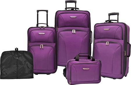Traveler's Choice Versatile 5-Piece Luggage Set, Purple, large, image 1