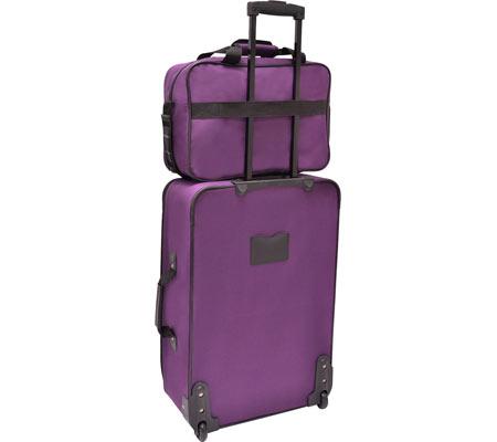 Traveler's Choice Versatile 5-Piece Luggage Set, Purple, large, image 2