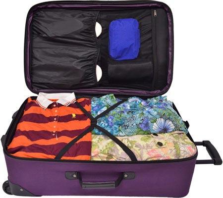 Traveler's Choice Versatile 5-Piece Luggage Set, Purple, large, image 3