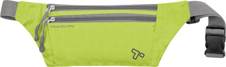 Travelon Double Zip Waist Pack, Lime, large, image 1