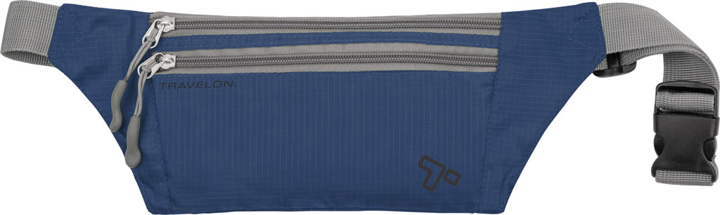 Travelon Double Zip Waist Pack, Royal Blue, large, image 1