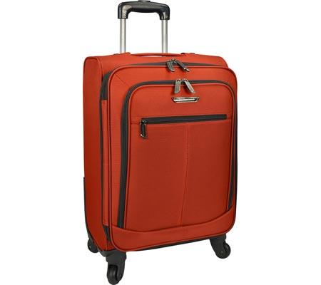 "Traveler's Choice Merced Lightweight 22"" Spinner Luggage, Orange, large, image 1"