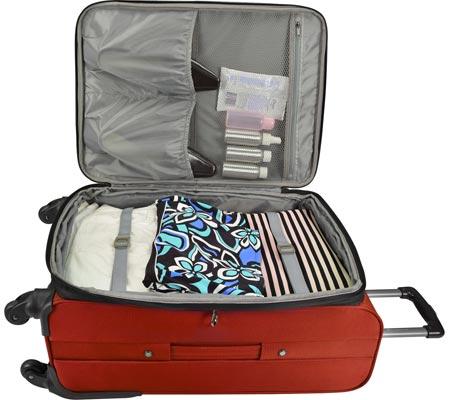 "Traveler's Choice Merced Lightweight 22"" Spinner Luggage, Orange, large, image 3"