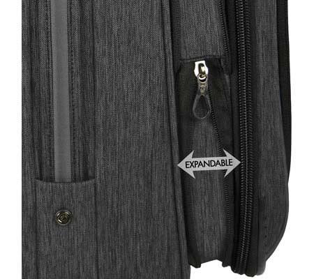 """Traveler's Choice Silverwood 21"""" Softside Spinner Luggage, Grey, large, image 2"""