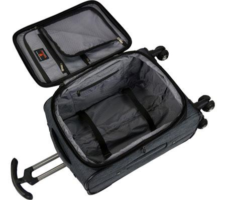"""Traveler's Choice Silverwood 21"""" Softside Spinner Luggage, Grey, large, image 3"""
