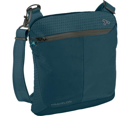 Travelon Anti-Theft Active Small Crossbody, Teal, large, image 1