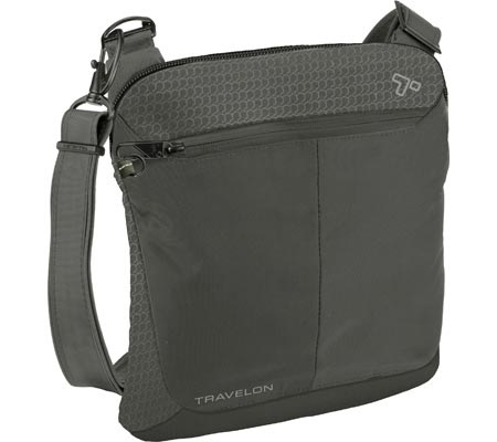 Travelon Anti-Theft Active Small Crossbody, Charcoal, large, image 1