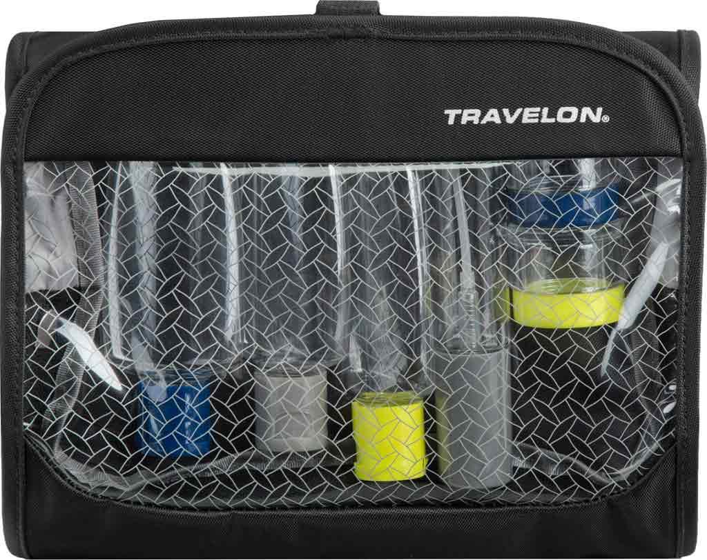Travelon Trifold Wet/Dry Quart Bag with Bottles, Black, large, image 1