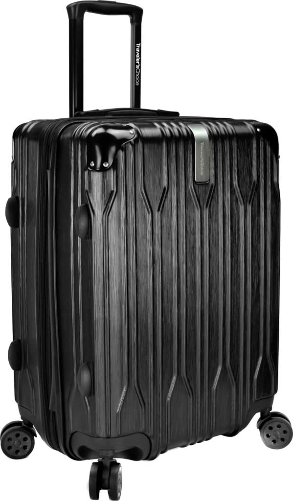 """Traveler's Choice Bell Weather Expandable 24"""" Spinner, Black, large, image 1"""