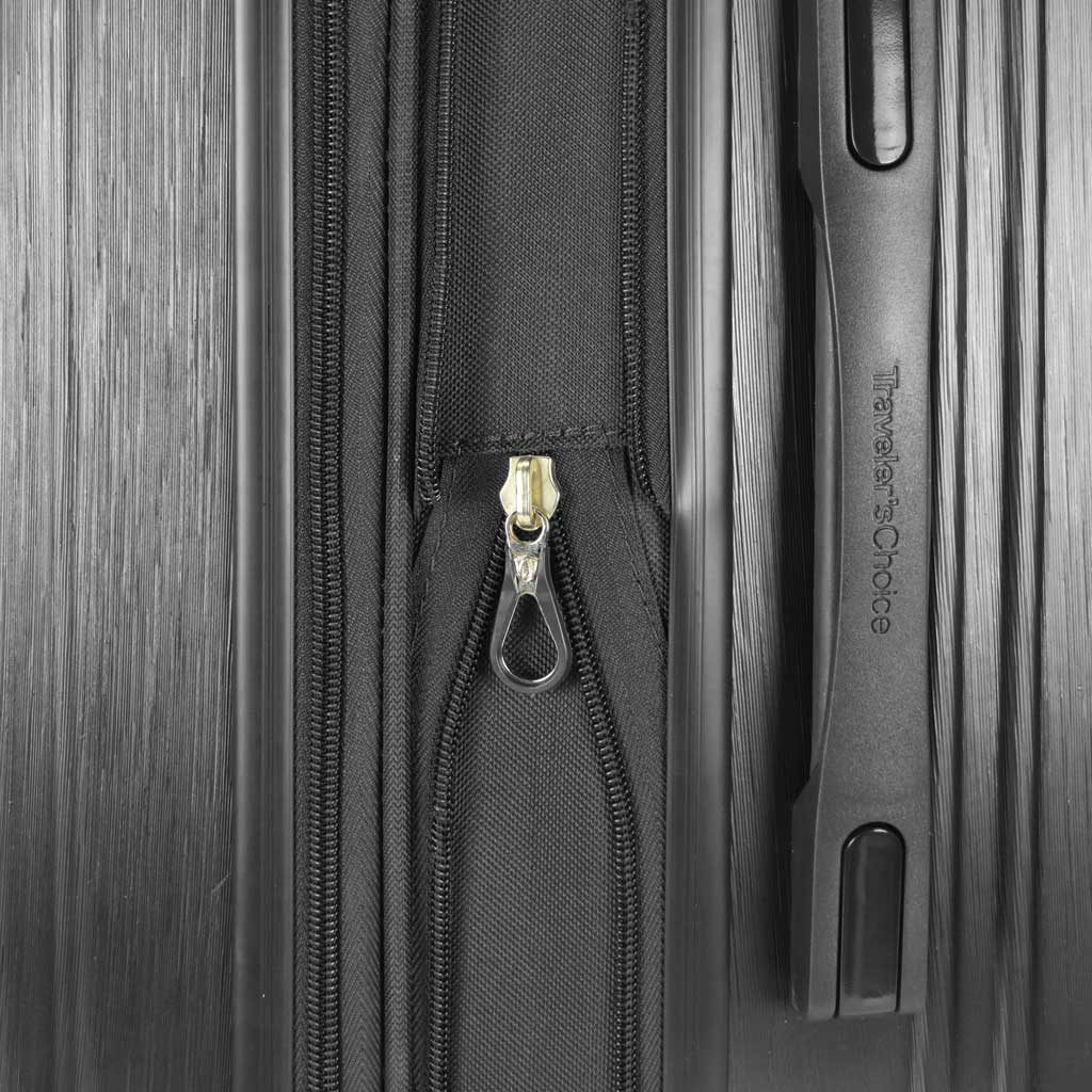 """Traveler's Choice Bell Weather Expandable 24"""" Spinner, Black, large, image 2"""