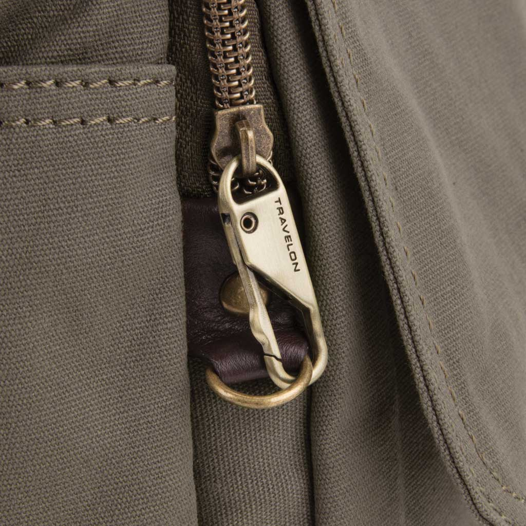 Travelon Anti-Theft Courier Tour Bag, Stone, large, image 4