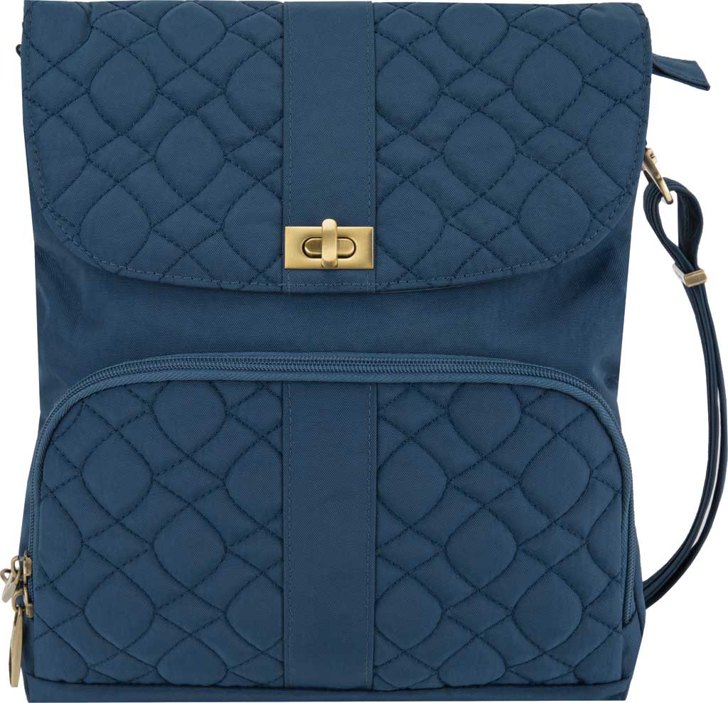 Travelon Anti-Theft Signature Quilted Messenger Bag, Ocean, large, image 1