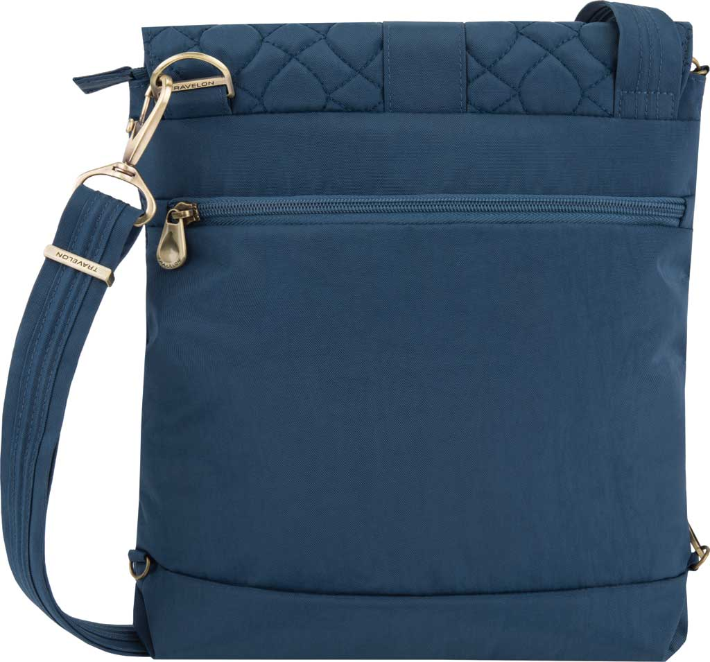 Travelon Anti-Theft Signature Quilted Messenger Bag, Ocean, large, image 2