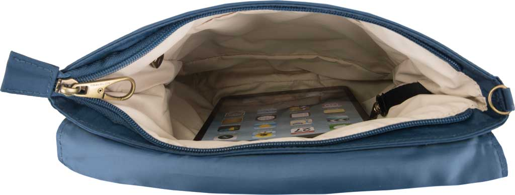 Travelon Anti-Theft Signature Quilted Messenger Bag, Ocean, large, image 3
