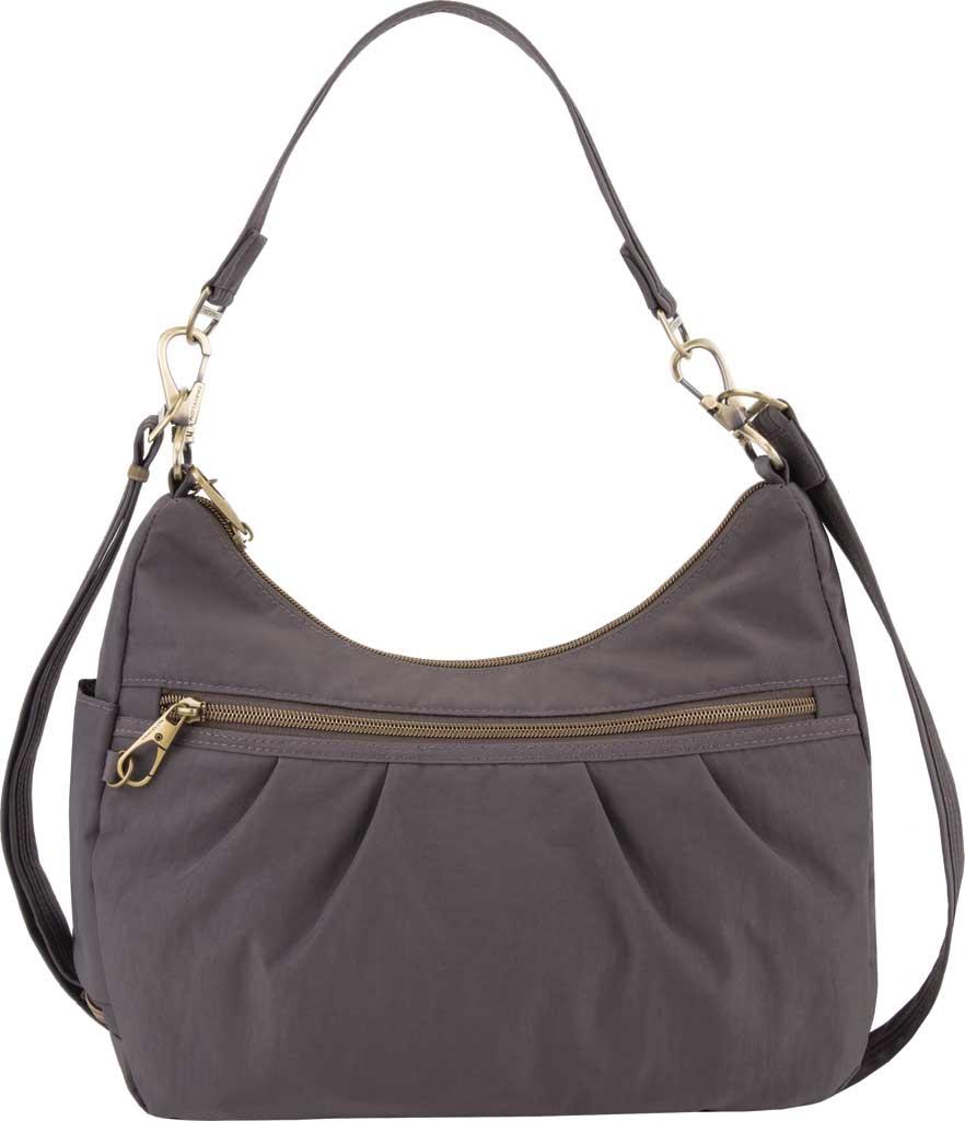 Travelon Anti-Theft Signature Hobo Bag, Smoke, large, image 1