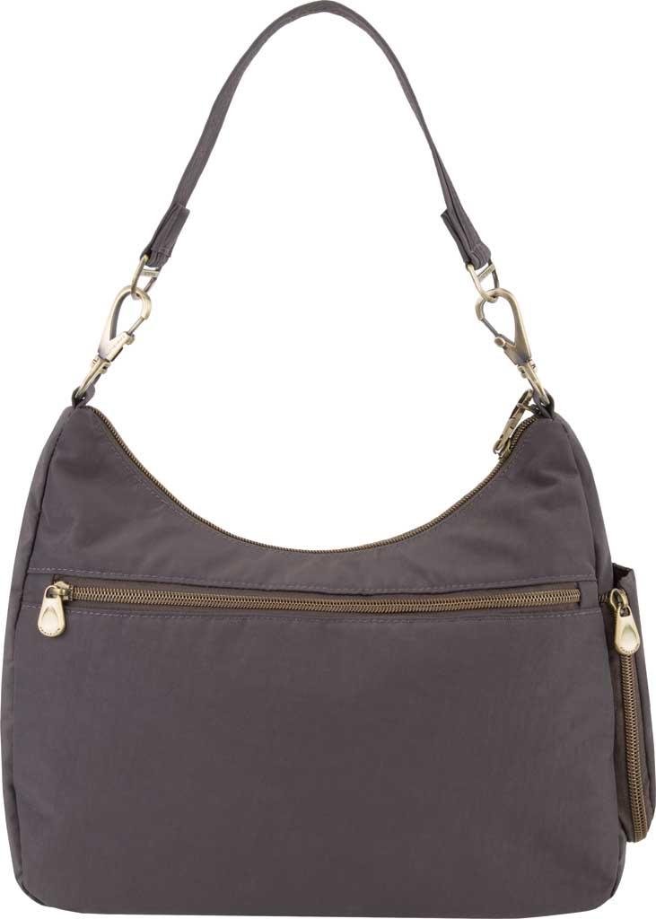 Travelon Anti-Theft Signature Hobo Bag, Smoke, large, image 2