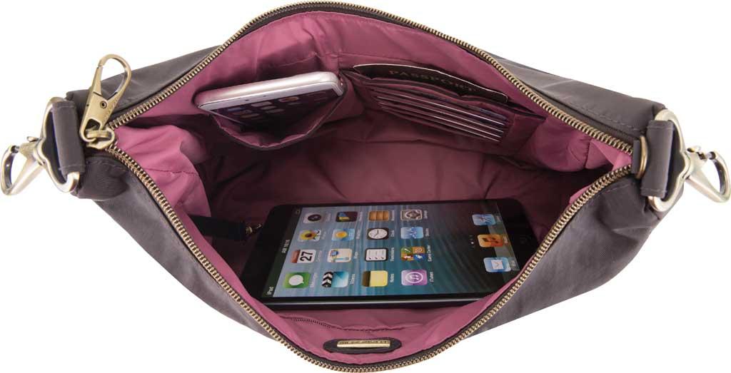 Travelon Anti-Theft Signature Hobo Bag, Smoke, large, image 3
