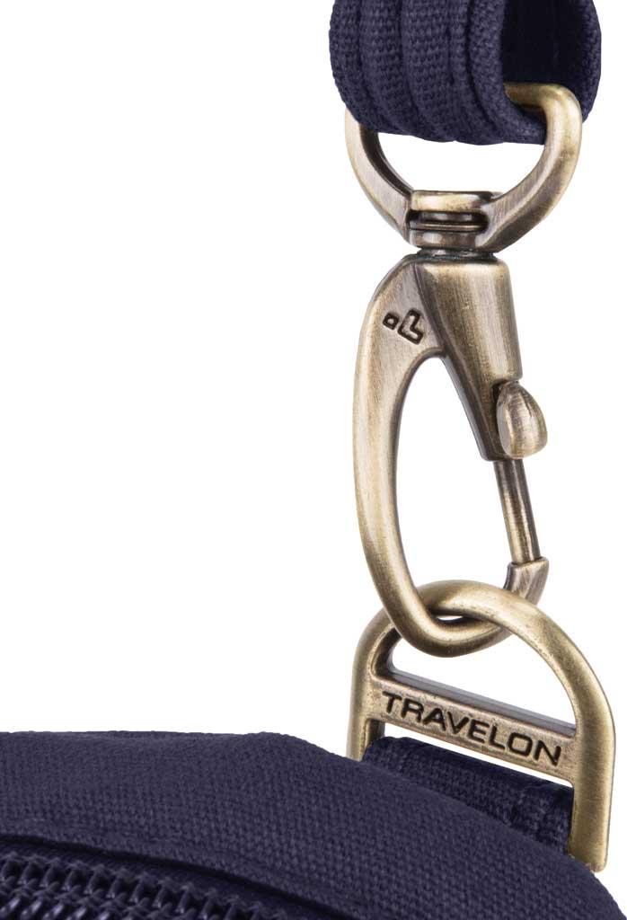 Travelon Anti-Theft Courier Mini Crossbody, Navy, large, image 4