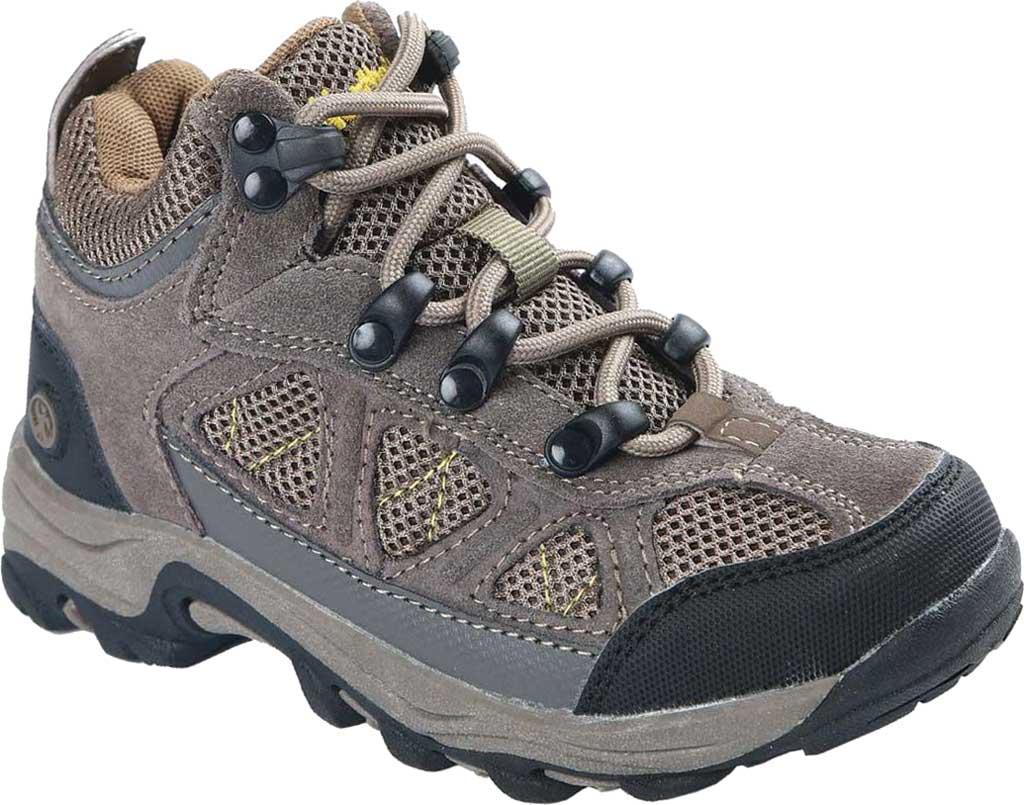 Boys' Northside Footwear Caldera Junior Leather Hiking Shoe, Stone/Yellow Suede/Mesh, large, image 1