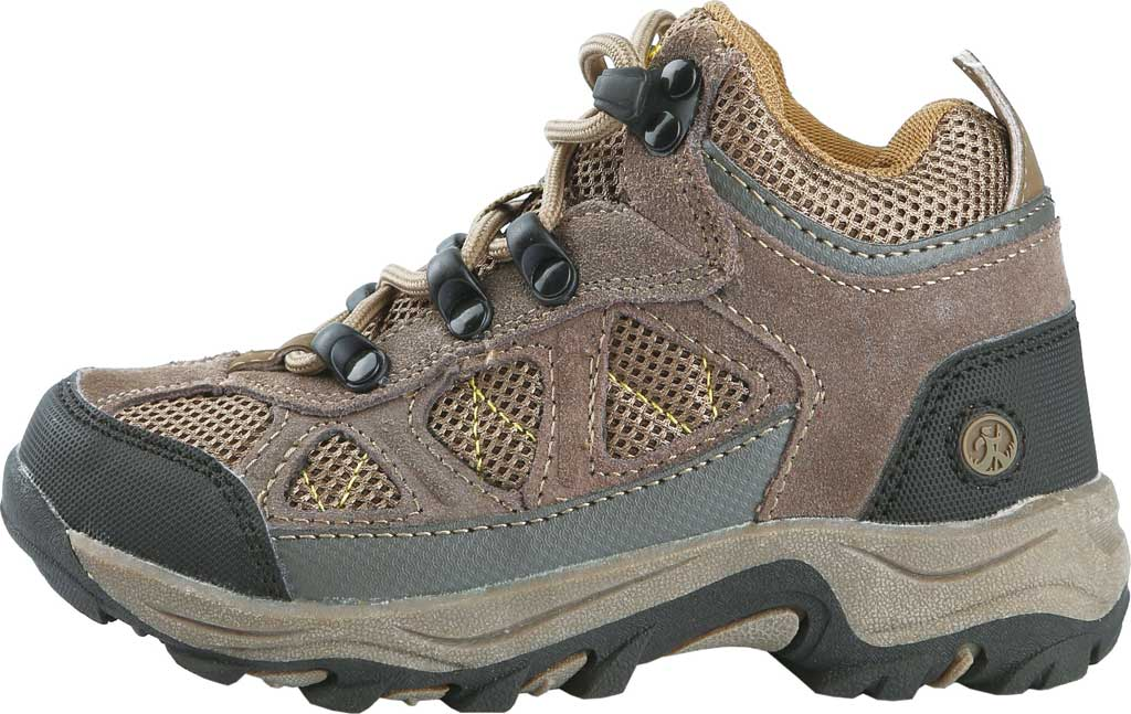 Boys' Northside Footwear Caldera Junior Leather Hiking Shoe, Stone/Yellow Suede/Mesh, large, image 2