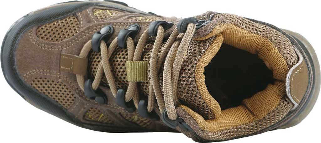 Boys' Northside Footwear Caldera Junior Leather Hiking Shoe, Stone/Yellow Suede/Mesh, large, image 4
