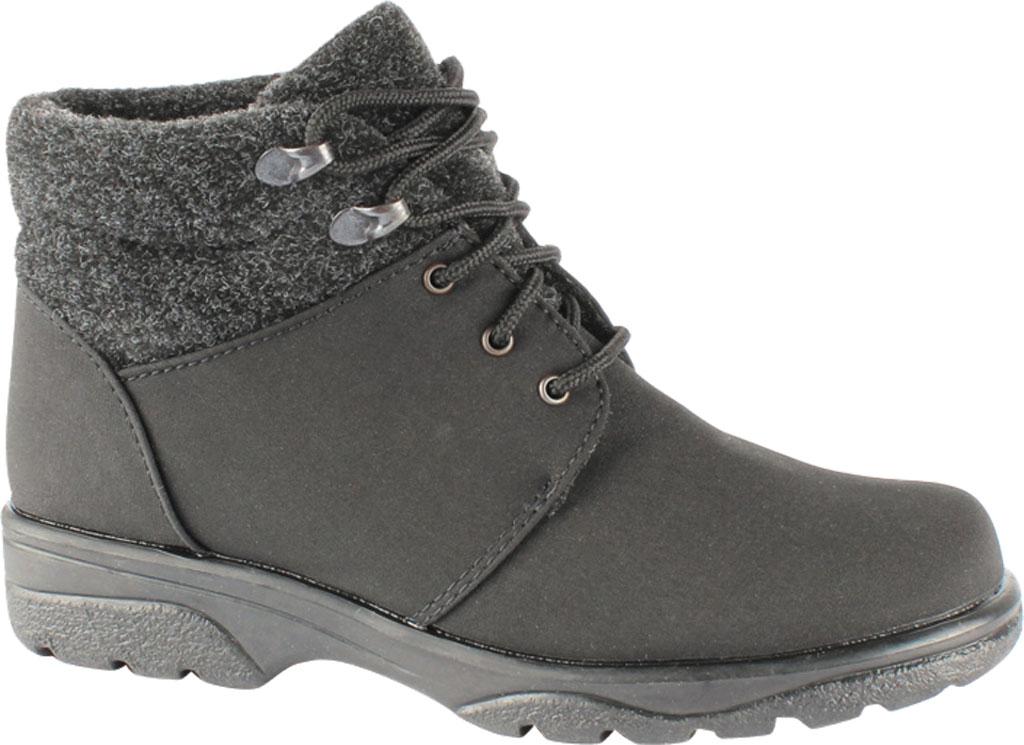 Women's Toe Warmers Trek Waterproof Ankle Boot, Black/Black, large, image 1