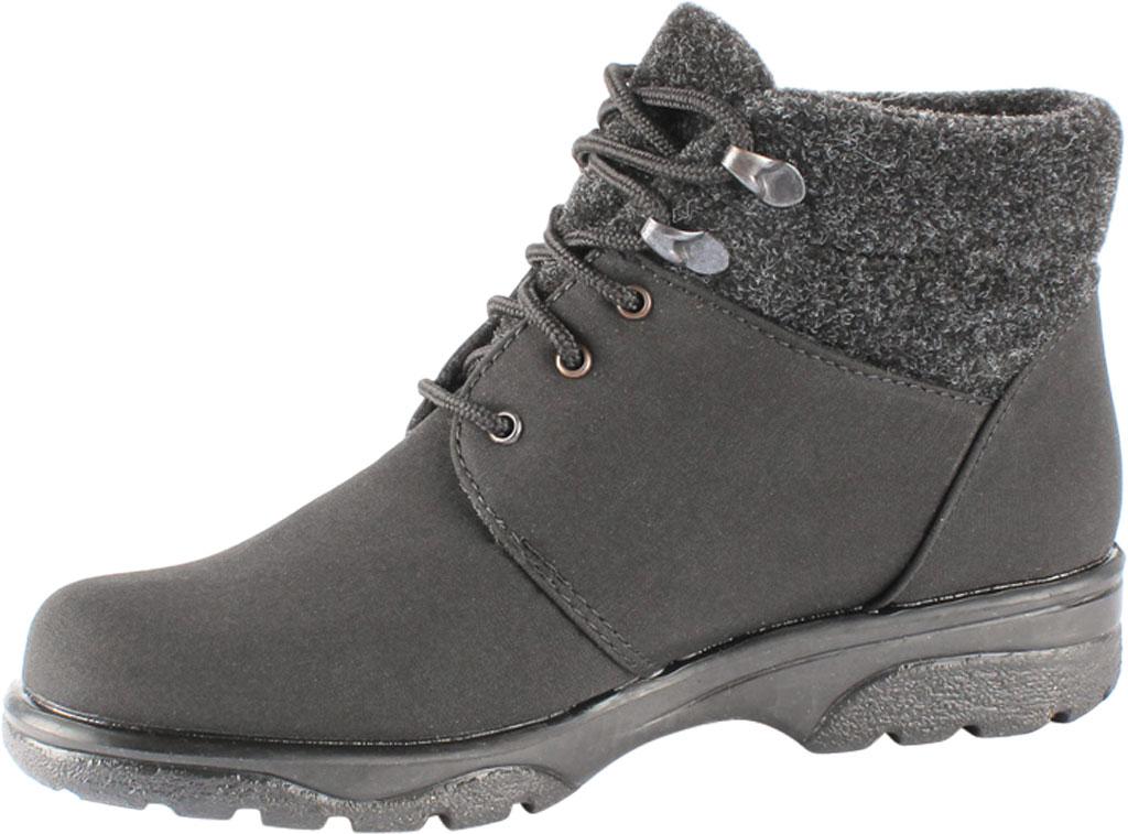 Women's Toe Warmers Trek Waterproof Ankle Boot, Black/Black, large, image 3