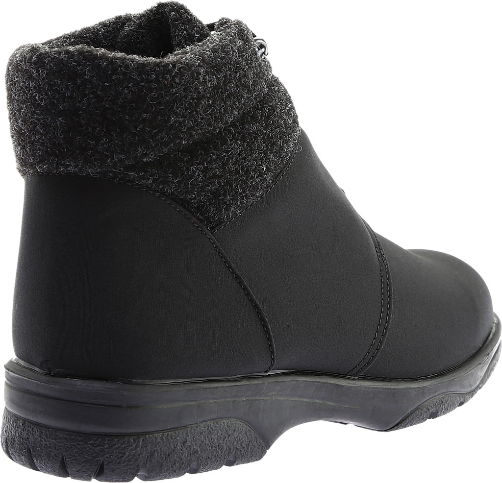 Women's Toe Warmers Trek Waterproof Ankle Boot, Black/Black, large, image 4