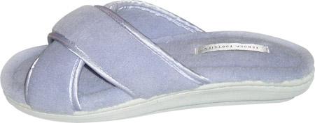 Women's Tender Tootsies Sharon Slipper (2 Pairs), Light Blue, large, image 3