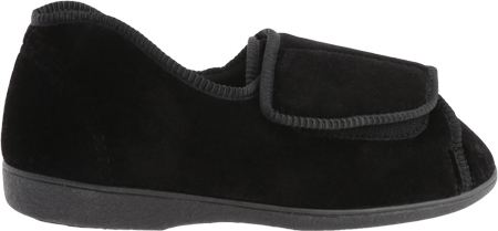 Women's Toe Warmers Closed Back Slipper, Black, large, image 2