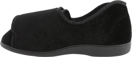 Women's Toe Warmers Closed Back Slipper, Black, large, image 3