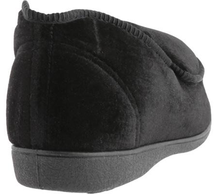 Women's Toe Warmers Closed Back Slipper, Black, large, image 4